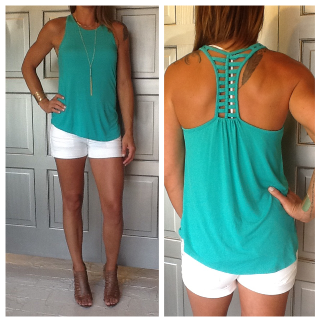 """Ladder"" Detail Racer Back Top"