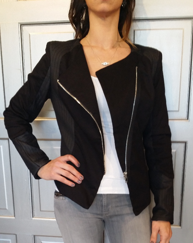 Black Asymmetrical Zipper Jacket