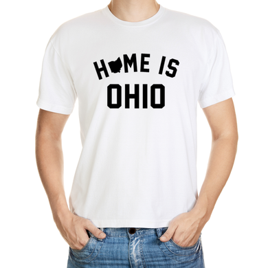 Home is Ohio White T-Shirt For Men's