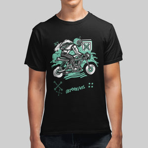Biker Graphic T-Shirt For Men's