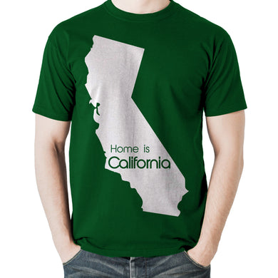 Home Is California Green Tee