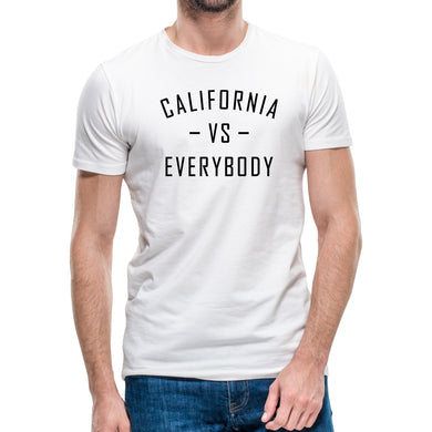 California Vs Everybody White T-Shirt