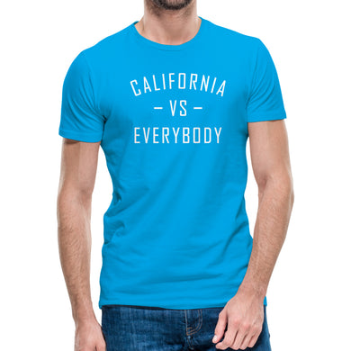 California Vs Everybody Skye Blue Tee