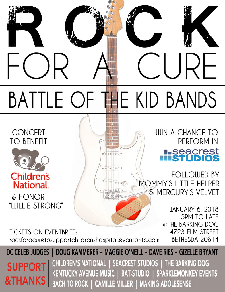ROCK FOR A CURE:  Battle of the Kid Bands 2018