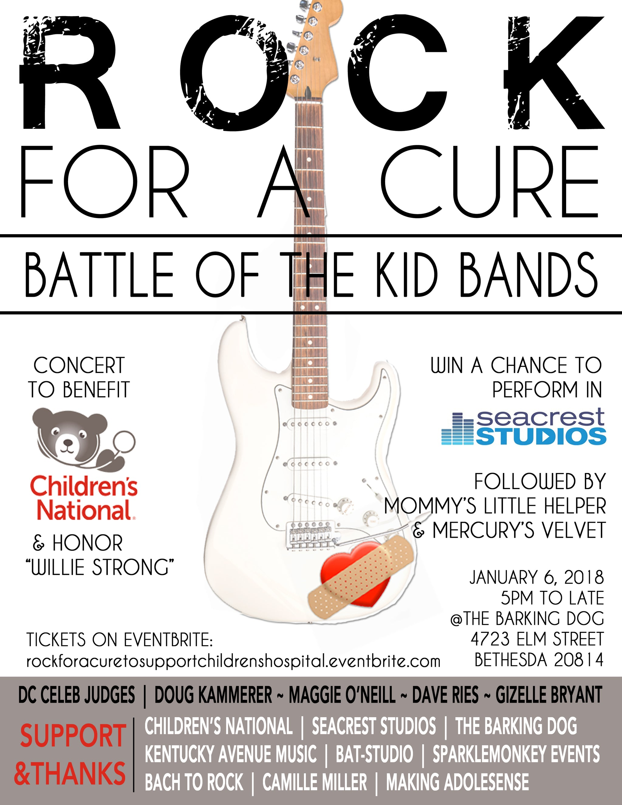 ROCK FOR A CURE: Battle of the Kid Bands 2018 - SparkleMonkey
