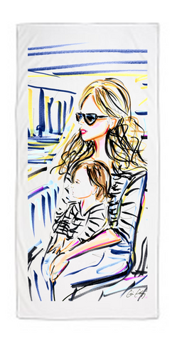 Personalized Beach Towel with Cris Logan Illustration