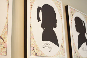 Silhouette Prints on Canvas