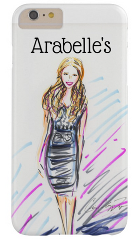 Personalized Slim Cell Phone Case with Cris Logan Illustration