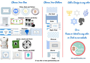 Hanukkah Plates - Set of 4