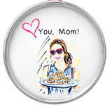 Personalized Circle Ornament with Cris Logan Illustration