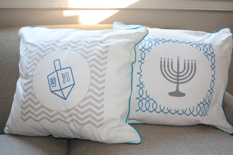Hanukkah Canvas Pillows - Set of 2
