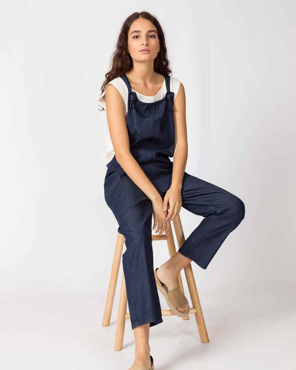 UCM Ladies Chambray Organic Cotton Dungarees