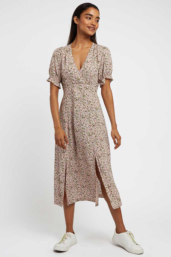 Louche London CORINA Rosebud Printed Short Sleeve Dress