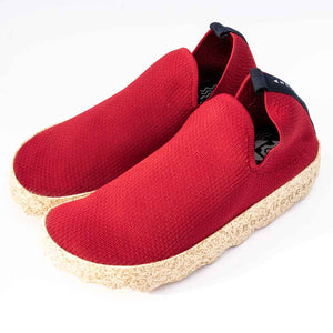 Asportugesas CARE Ladies Red Sustainable Fabric Shoe