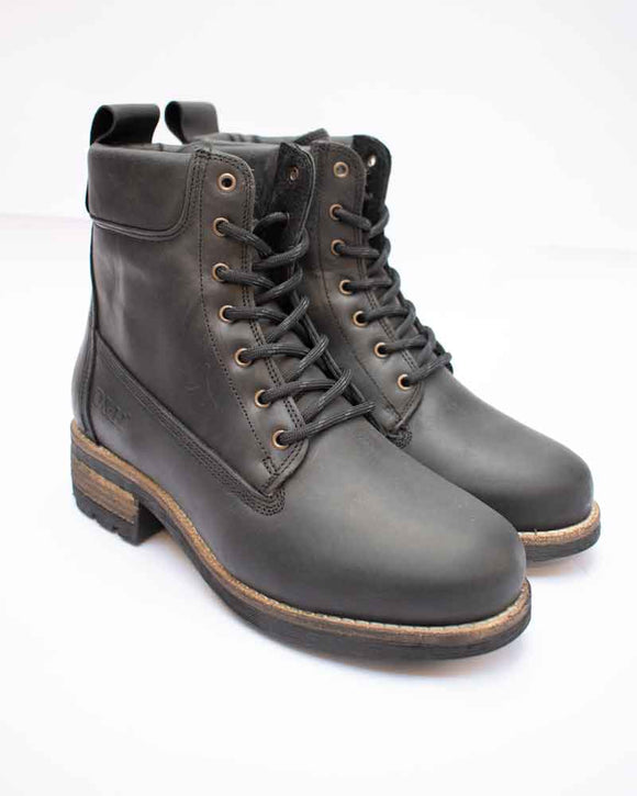 Oak & Hyde BRIDGE Black Ladies Chunky Lace Up Boots