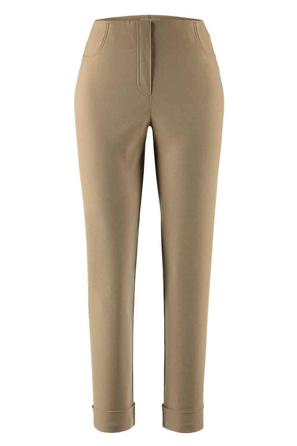 Stehmann IGOR Ladies Beige Turn Up 7/8 Stretch Trousers