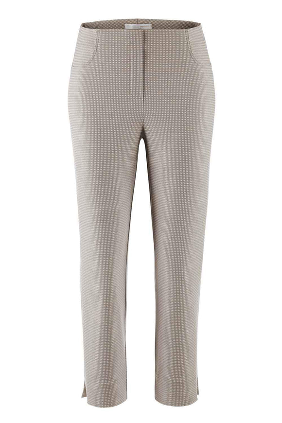Stehmann LOLI Ladies Beige Spot Slim 7/8 Stretch Trousers