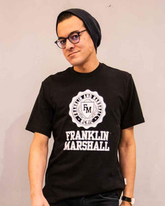 Franklin & Marshall Mens Black Cotton Branded Tee Shirt