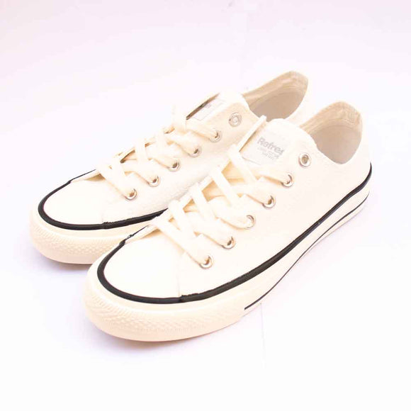 Refresh Mens White Canvas Lace Up Pumps.
