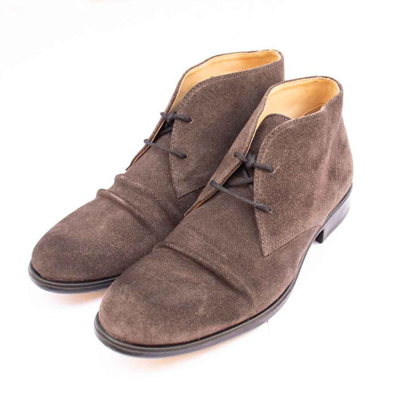 Fly London MURO Mens grey Suede Crinkle Front Chukka Boots