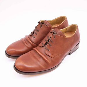 Fly London MASK Mens Brown Leather Crinkle Front Shoes
