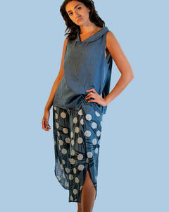 Lottie&Moll KACEY Ladies Blue Dot Print Cotton Trousers