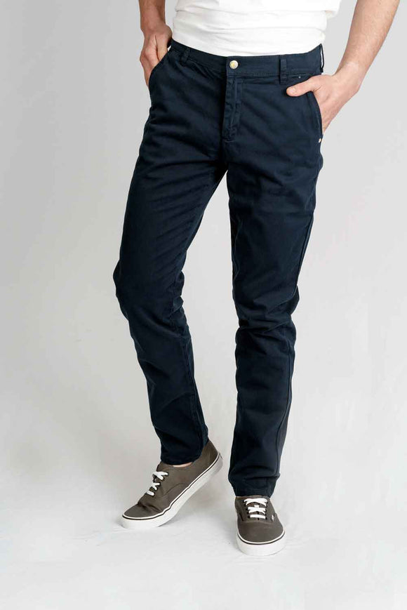 MONKEE JEANS Mens Super Soft Navy Chino
