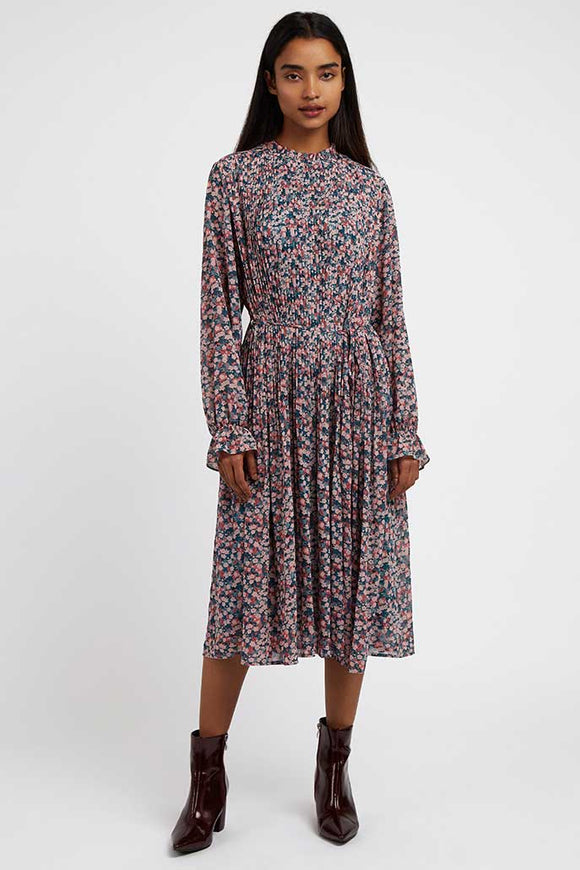 Louche London OUIFA Ladies Pleat Top Floral Dress