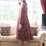 Traffic People FLOWER Ladies Red Flower Print Dress