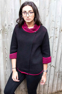 ALICE Lottie&Moll Black Zig Zag Neck Knitted Jacket.