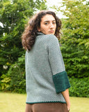 Lottie&Moll IMOGEN Ladies Double Knit Green Check Cardigan Jacket