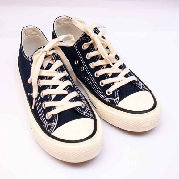 Refresh Mens Navy Canvas Lace Up Pumps