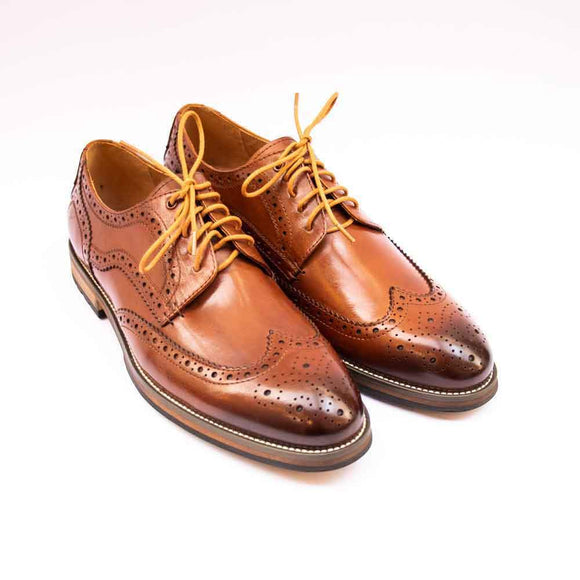 Justin Reece RUDOLPH Mens Tan Brogue Shoes