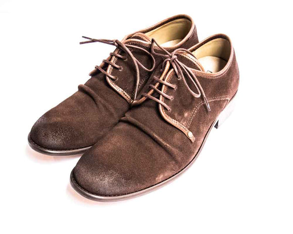 Fly London WEST Mens Brown Suede Crinkle Front Shoes