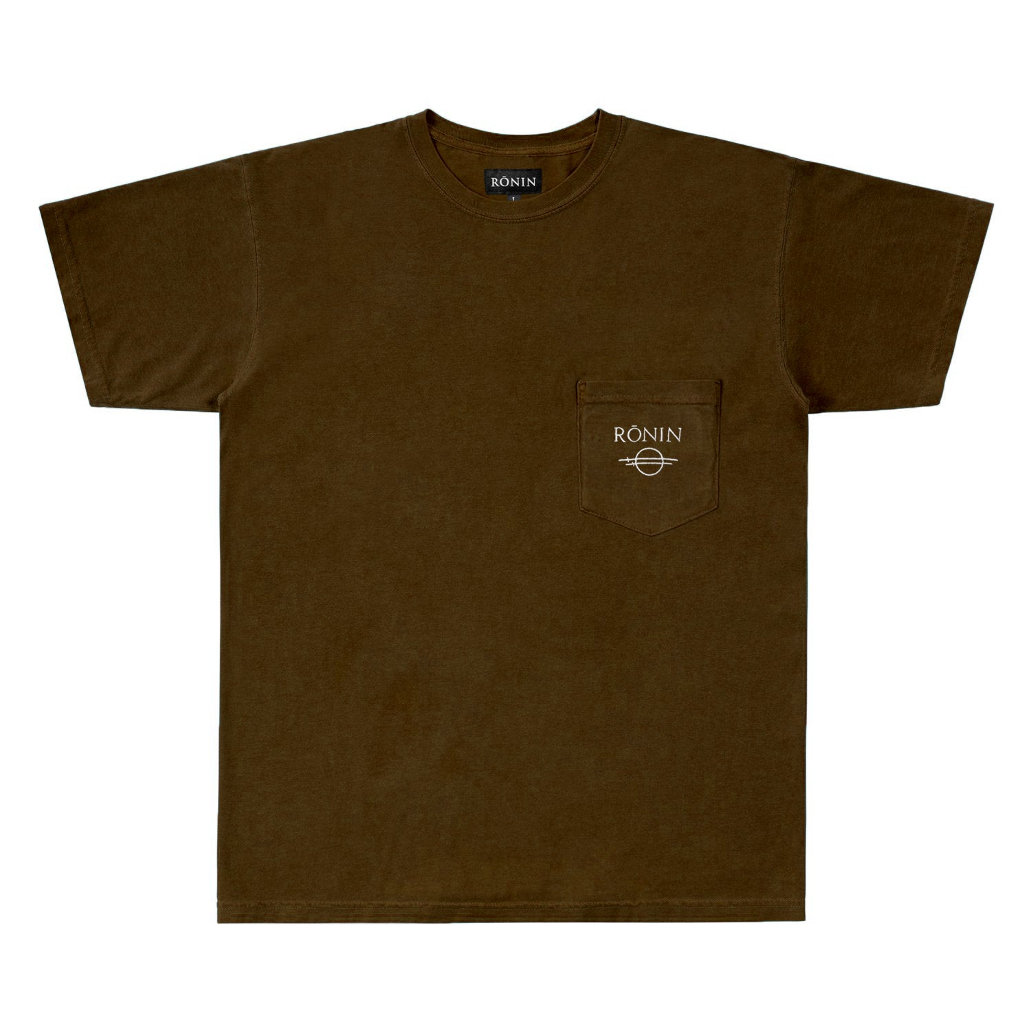 C&S Logo Pocket Tee - Brown
