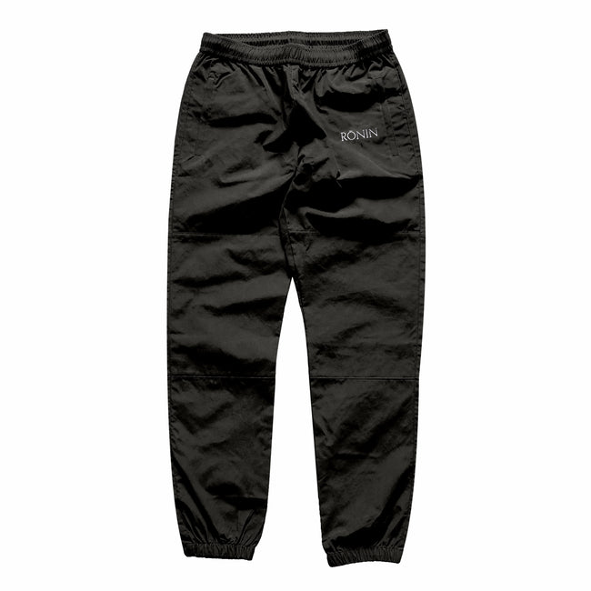 Logo Nylon Track Pants - Black