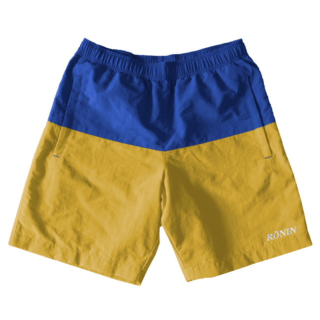 Split Water Shorts - Blue/Yellow