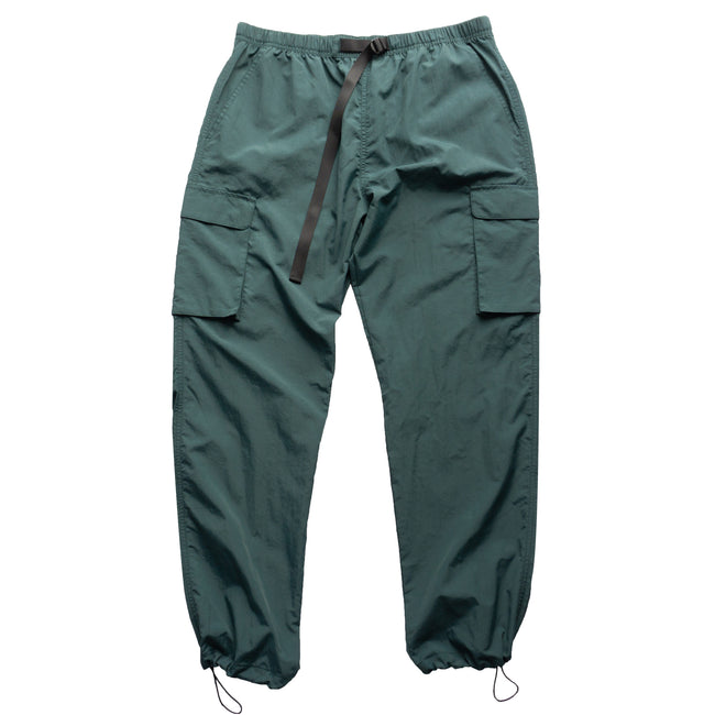 Nylon Cargo Pants - Jade