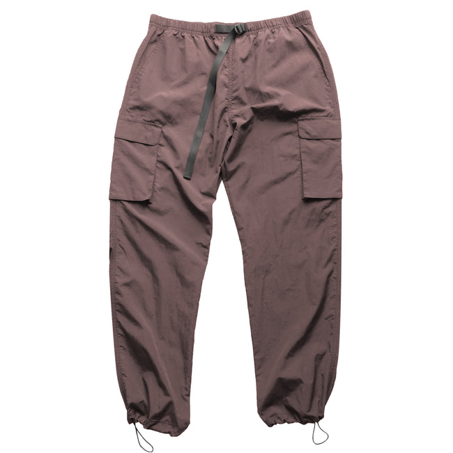 Nylon Cargo Pants - Rose