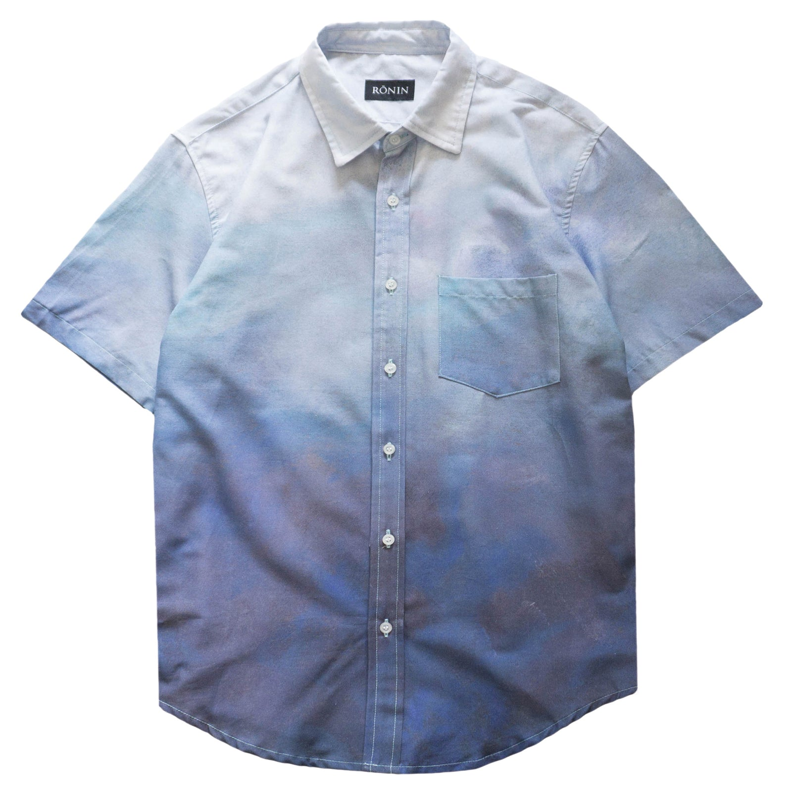 Cloud Button Up - Blue