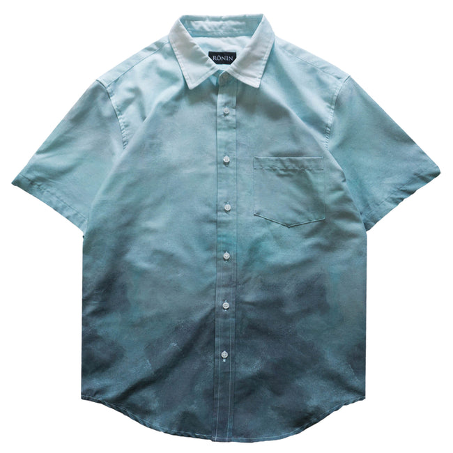 Cloud Button Up - Green