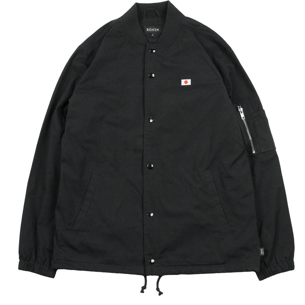 Bomber Coach Jacket - Black