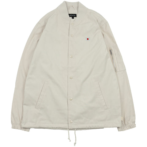 Bomber Coach Jacket - Cream