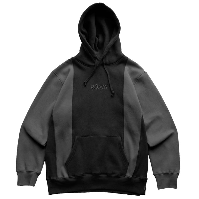 Double Panel Hoodie - Black/Grey
