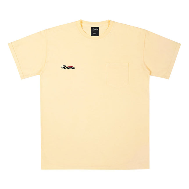 Finals Pocket Tee - Yellow Squash