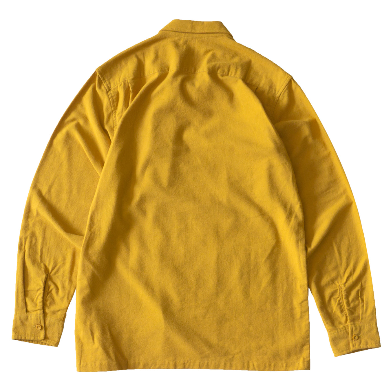 Flannel Zip Shirt - Mustard