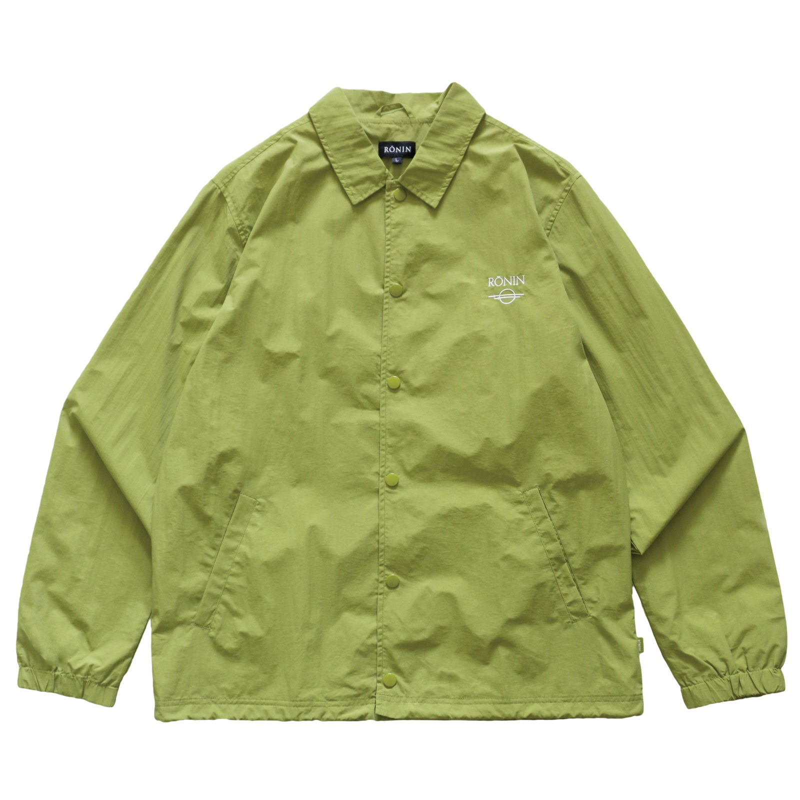 Logo Coach Jacket- Lime