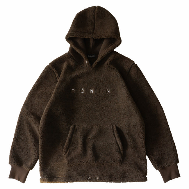 Logo Sherpa Pullover - Brown