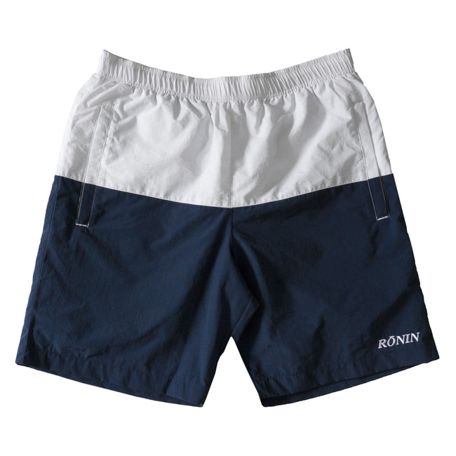 Split Water Shorts - White/Navy