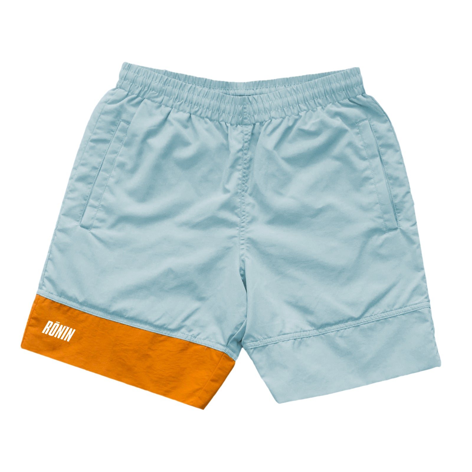 Logo Panel Water Shorts - Ice/Orange